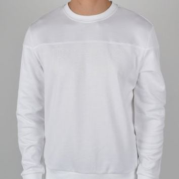 Hugo Boss Green Salbo Crew Sweatshirt 50260334 - White