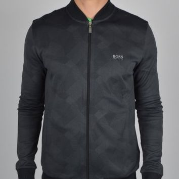 Hugo Boss Green Socamo Sweatshirt Jacket - Black