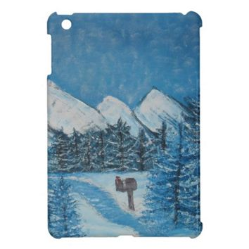 Blue Winter Oils on Canvas iPad Mini Case