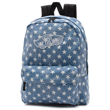 Vans Denim Stars Realm Backpack (Washed Denim Blue/Stars)