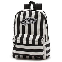 Vans Stripe Realm Backpack (White)