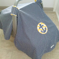 Nautical Anchor Car Seat Canopy