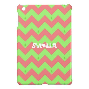 Chevron Christmas Pastel iPad Mini Case