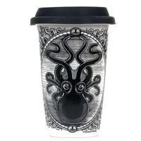 Black & White Kraken Up Tumbler