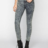 Rsq Manhattan High Rise Womens Skinny Jeans Acid Wash  In Sizes