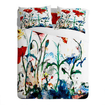 Ginette Fine Art Poppies In Light Sheet Set