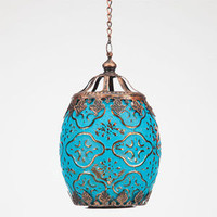 Small Glass Lantern Blue One Size For Women 24530920001