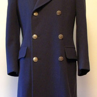 50s Vintage Mens US Air Force Wool Overcoat