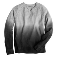 Johnston &amp; Murphy: OMBR V-NECK SWEATER - Gray/Black