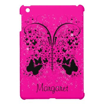 Butterfly Sparkles HOT PINK iPad Mini Case