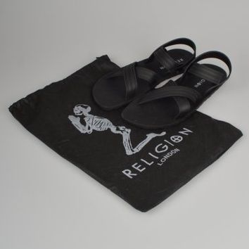 Religion Clothing Rubber Sandals HV14SHM42 - Black