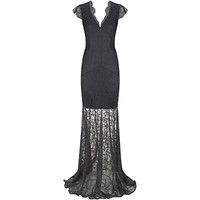 Reiss Ambrosia Lace Maxi Dress