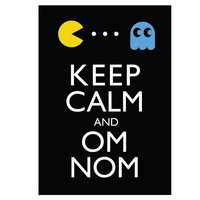 FREE SHIPPING Keep Calm and Om Nom 8x10 by lovesickrobotdesigns