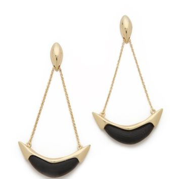 Liquid Suspended Cresent Earrings