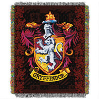 Harry Potter Exclusive Gryffindor Crest Tapestry Throw | HarryPotterShop.com