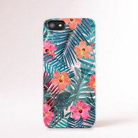 Summer iPhone Case Summer Accessories Tropical Floral Prints iPhone 4 Case Floral Cases Floral Samsung iPhone 5 Case iPhone Hawaii Botanical