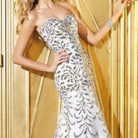Embellished Slim Gown by Alyce Prom