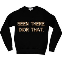 Bow & Drape, sweatshirts, comfy shirts, weekend wear, lounge, soft shirts, customized, dior, designer, dior that, been there done that