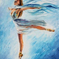 THE SKY DANCE — Palette knife Oil Painting on Canvas by Leonid Afremov - Size 24x30. 10% discount coupon - deviantart10off