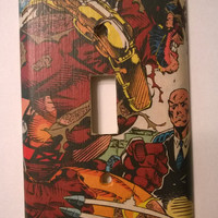 Wolverine Comic Book X-Men comic light switch cover