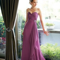 Colored Empire Sweetheart Chiffon Bridesmaid Dresses Bridal Party Gowns With Beads
