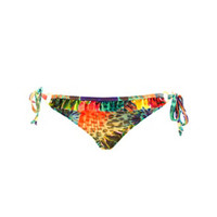 TROPICAL PRINT RUFFLE STRING BIKINI BOTTOMS