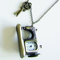 piiqshop - Market Place - necklace vintage sewing machine watch
