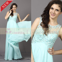 New Beaded Chiffon Sleeveless Maxi Wedding Dress Emerald Green Evening Dress For 2014, View evening dress, Choiyes Evening Dress Product Details from Chaozhou Choiyes Evening Dress Co., Ltd. on Alibaba.com