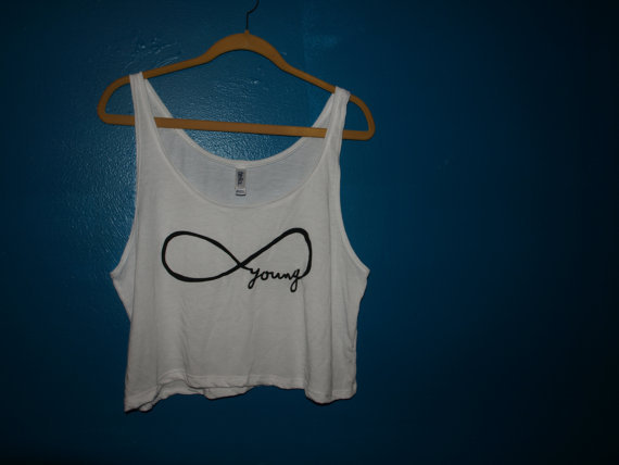 forever young cropped tank top
