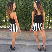Strapped and Striped Romper