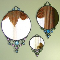 Victorian Filigree Mirror by AGlassActStudio on Etsy