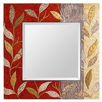 Product Details - Copper Leaves Mirror
