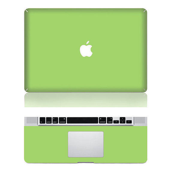 Green Mac Decal Macbook Stickers Macbook Decals Apple by ttluck
