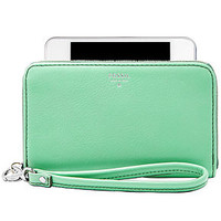Fossil Sydney Leather Zip Phone Wristlet