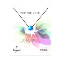 you are a gem turquoise necklace, 18 inch