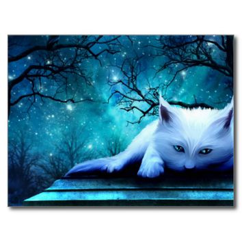 Ghost Cat Postcard