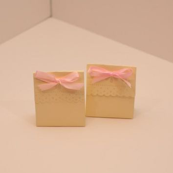 Wedding Party/Baby Shower Favor Boxes with Ribbon