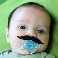 Mustache Boy Pacifier BLACK | Luulla