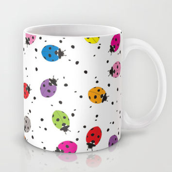 Ladybirds Rainbow Mug by Ornaart
