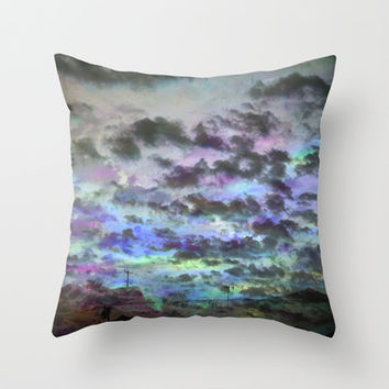 Colors Rolling in Throw Pillow by Ben Geiger