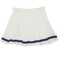Pintucked Marine Skirt