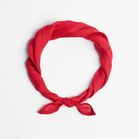 Red kerchief, red bandana scarf