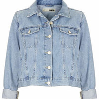 MOTO BLEACH CROP WESTERN JACKET