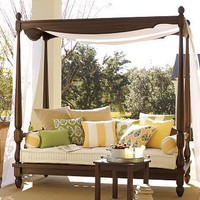 Balinese Daybed & Canopy | Pottery Barn