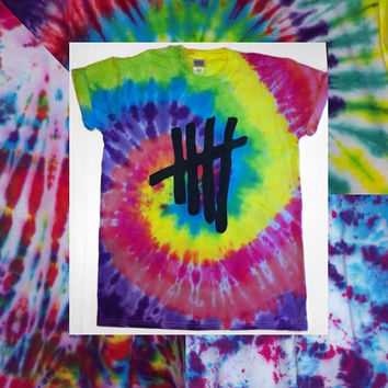 5 Seconds Of Summer Tie Dye Tshirts