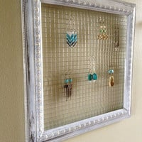 Square Frame Earring Display by OliveTreeHandmade on Etsy