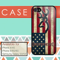 browning deer chevron custom design available for iphone 4/4s,5/5s/5c and samsung galaxy S3/S4/S5 case