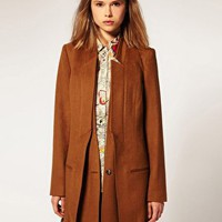 ASOS | ASOS Premium Coat With Double Lapel at ASOS