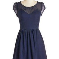 ModCloth Short Cap Sleeves A-line Arrive with Aplomb Dress