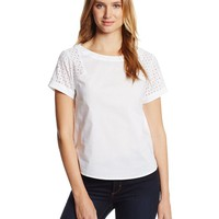 Anne Klein Women's Blouse With Eyelet Sleeve